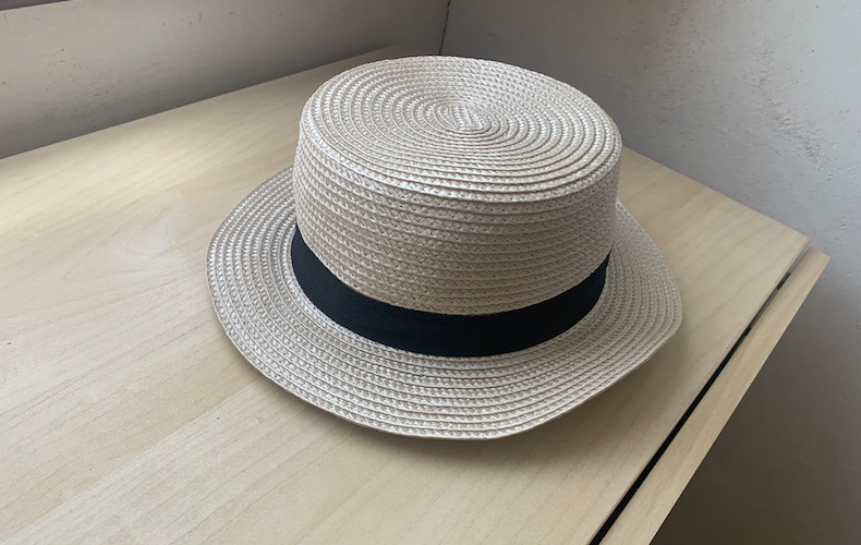 ダイソーで見つけた!子供の麦わら帽子