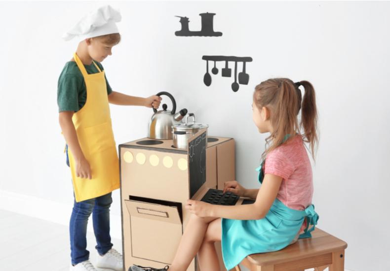 おままごと キッチン 人気 おすすめ コスパ リーズナブル プチプラ    ダンボール