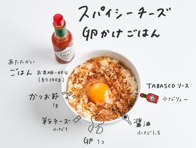 タバスコ タバスコアレンジレシピ アレンジレシピ 残りもの レンジで 残りものレシピ 卵かけごはん
