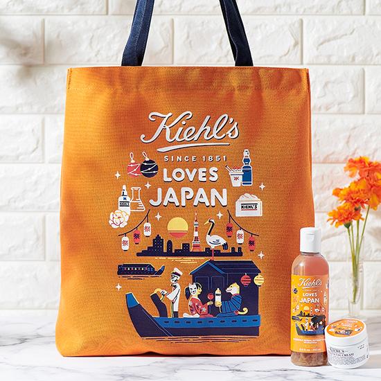 キールズ KIEHL'S LOVES JAPAN 2021 キールズ ラブズ 限定エディション限定パッケージ トートバッグ