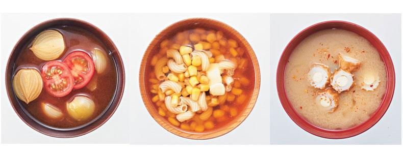 トマトとペコロスの赤味噌スープ