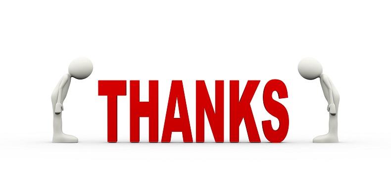 誠に感謝申し上げます