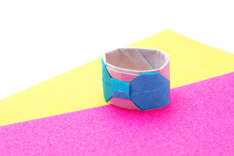 折り紙 指輪 折り方 リボン リング 指輪