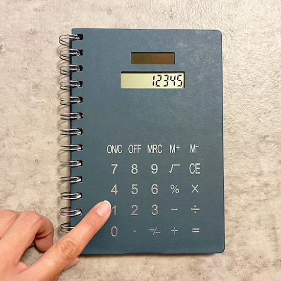 フライングタイガー 電卓付ノート