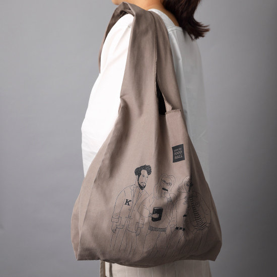 キハチ KIHACHI エコバッグ 肩がけできるエコバッグ グレージュのエコバッグ おしゃれなエコバッグ おしゃれエコバッグ