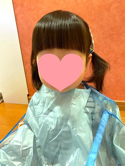 ダイソー 散髪ケープ 前髪カットクリップ