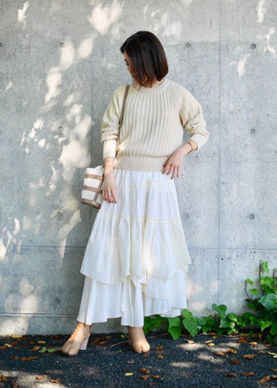 UniqloU ローゲージ クルーネックセーター